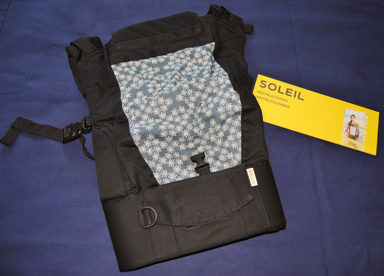 4dab37aa746 ... Beco Soleil carrier that faces out when you are wearing your baby. This  is the pattern that people are going to see when they see you wearing your  baby ...