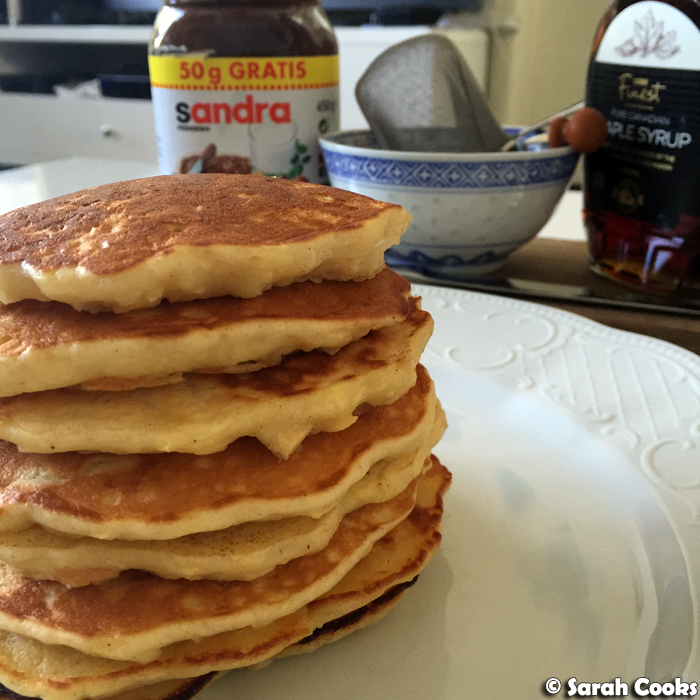 Sarah Cooks: Apple Buttermilk Pancakes