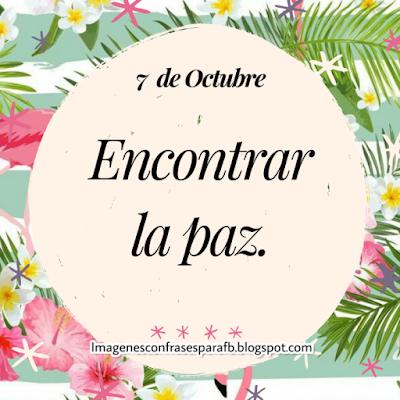 Frase del Día 7 de Octubre