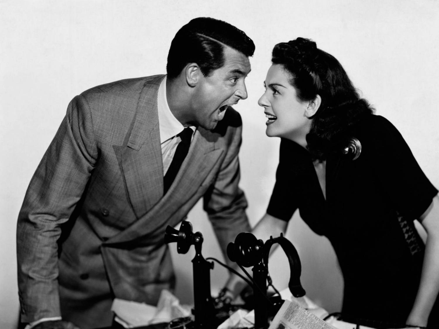 Luna nueva (His Girl Friday) - 1940 - Cary Grant y Rosalind Russell