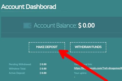 "Kedua, silahkan pilih menu ""Make Deposit"" dan silahkan pilih pembayaran. Ada dua pilihan yaitu Perfect Money dan Bitcoin."