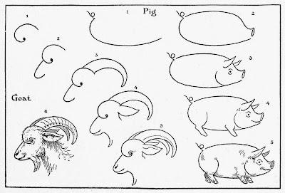 как нарисовать козла поэтапно карандашом