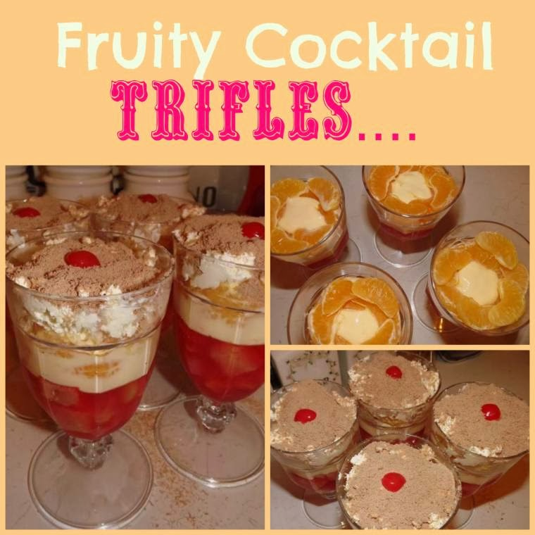 Fruity Cocktail Trifles:  Family Favourite Recipe