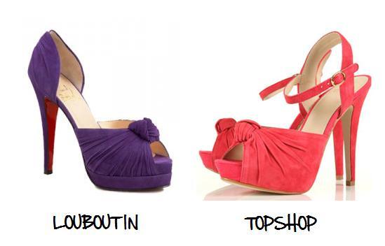 Clones 2011 zapatos Louboutin Topshop