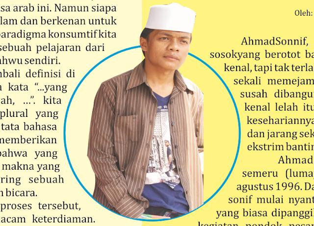 Ahmad Shonif, Kawula Aktifis Bersarung - PPRU 1