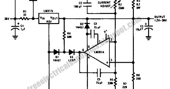 Free Schematic Diagram: 5 A Constant Voltage-Constant