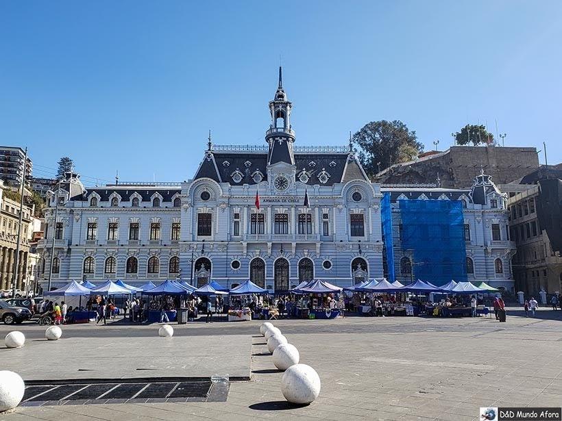 Sede da Marinha Chilena na Plaza Sotomayor - O que fazer em Valparaíso em algumas horas