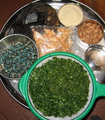 Ingredients for egusi (melon) soup