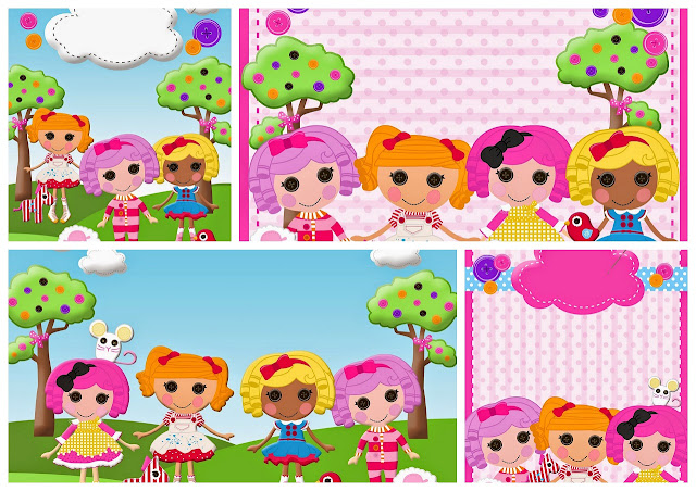 Lalaloopsy: Free Printable Birthday Party Invitations.