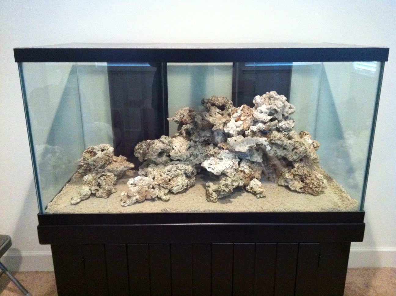 120 Gallon Reef Display: Final Aquascape!!!