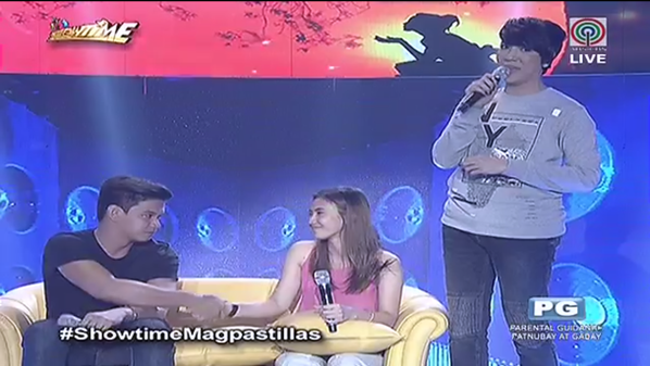 Enzo and Pastillas Girl reconciliation on It's Showtime