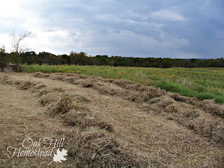 How to bale hay by hand