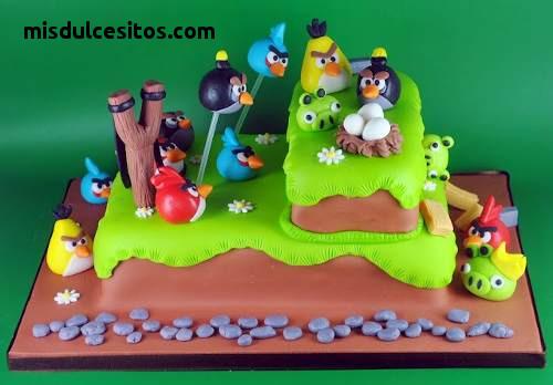 Tortas Angry Birds. Venta de tortas personalizadas en todo Lima. Tortas artísticas.