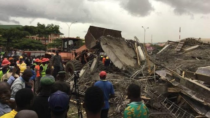 Nigeria acting president visits site of collapsed storey building in Abuja