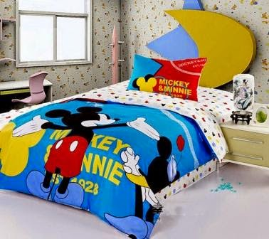 Bed cover dan sprei motif mickey mouse-7