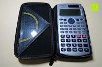 Geodreieck: Taschenrechner Schutztasche für Casio FX 991 ES / DE Plus