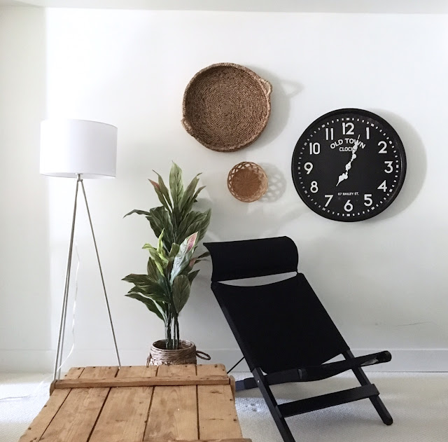 Tripod-lamp-basement-decor-wall-baskets-bouclair-harlow-and-thistle
