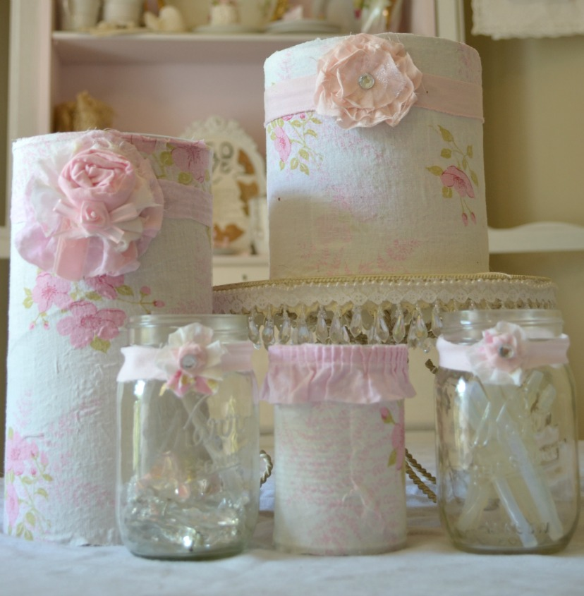 Olivia's Romantic Home: Shabby Craft Room Recycled Coffee