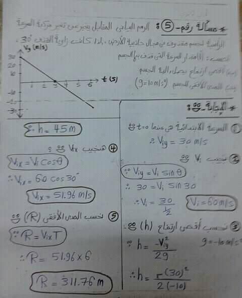 مراجعة فيزياء اولي ثانوي.. تطبيقات علي الحركه بعجله منتظمه 4
