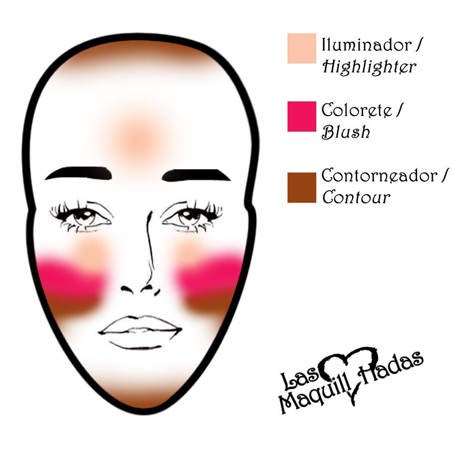 contouring an oblong face shape HB Makeup contour