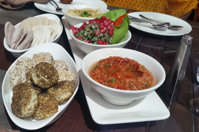 Cold Mezze with Iranian Bread