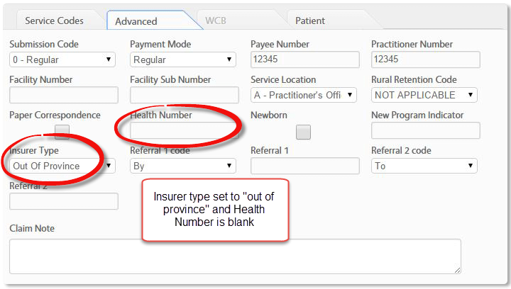 create invoice advanced tab