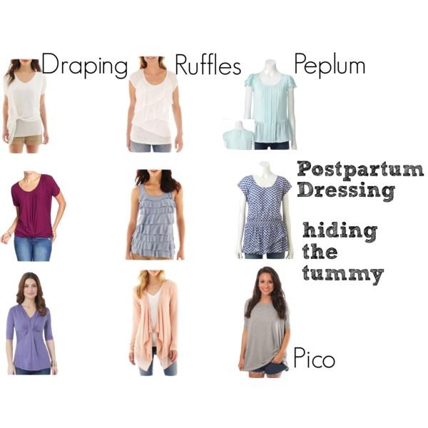 Postpartum dressing: hiding the tummy