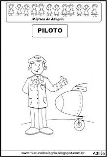 Desenho de piloto para colorir