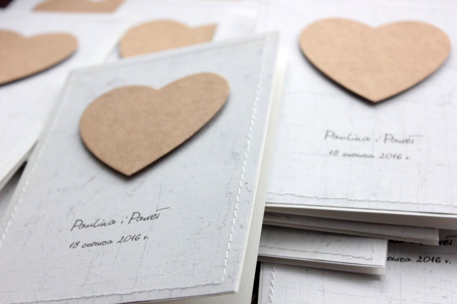 Papierkarnia Eko Serce Zaproszenia ślubne