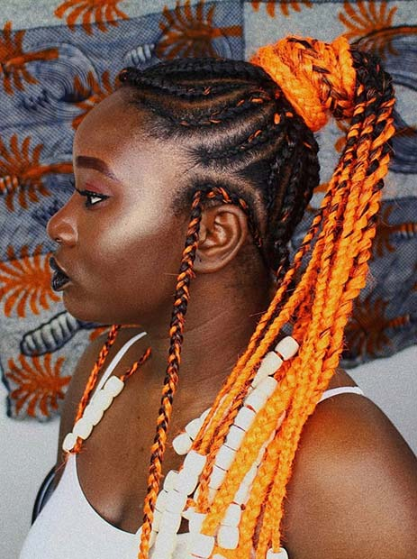 34 Latest Tribal Braided Ponytail Hairstyles for Black Hair Ideas