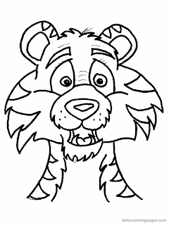 Cartoon Tiger Coloring Pages - Cartoon Coloring Pages