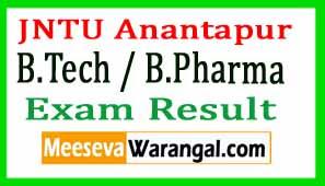 JNTU Anantapur B.Tech / B.Pharma Results