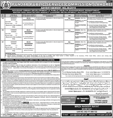 PPSC New Jobs 2019 Punjab Public Service Commission Jobs 2019