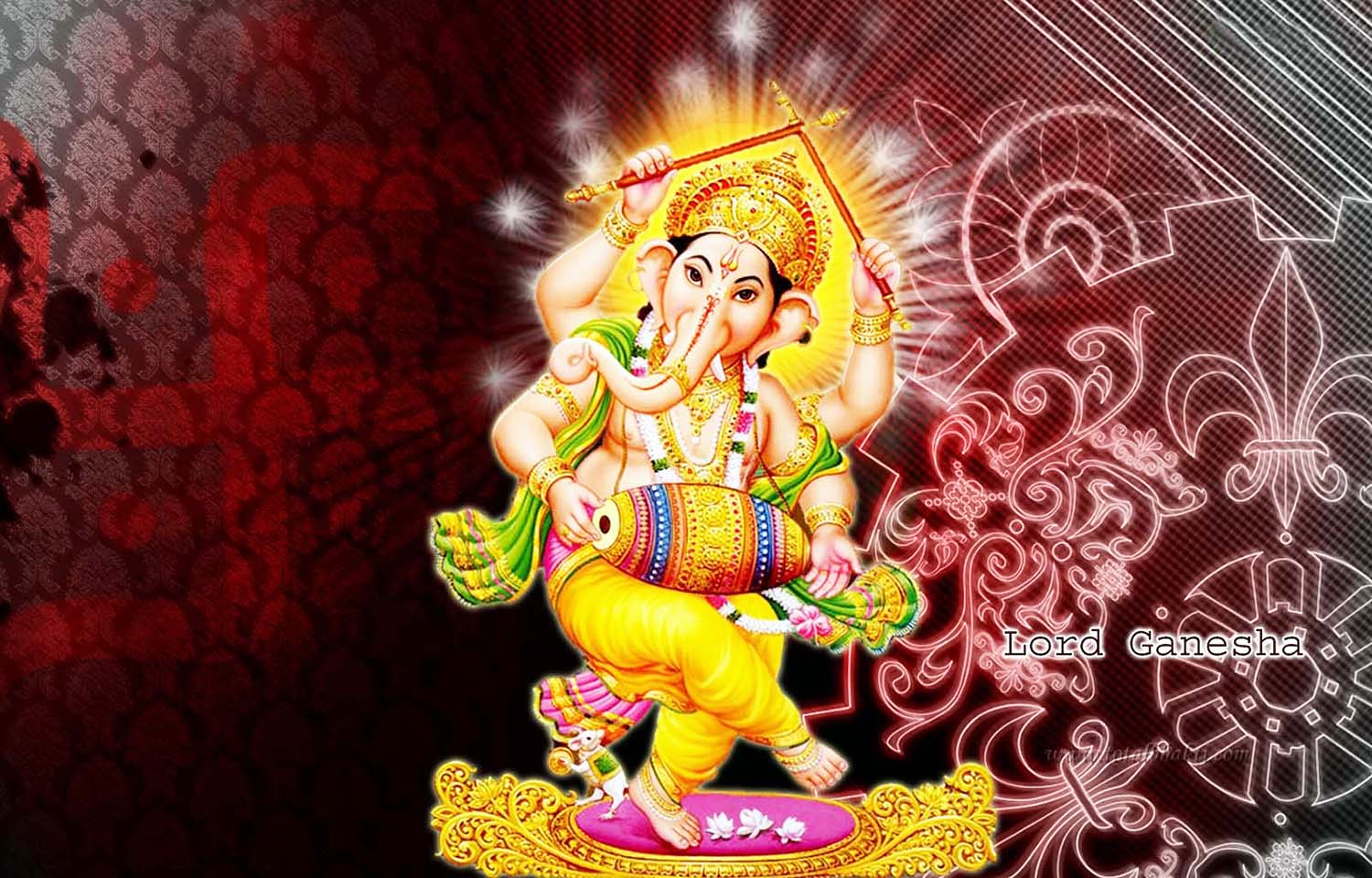 Dancing  God Ganesh wallpaper!