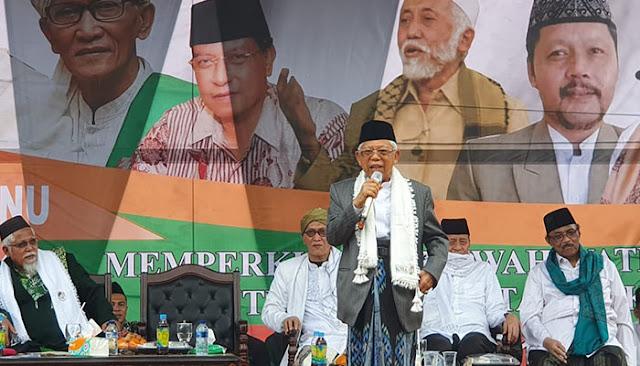 Ma'ruf Amin: Kalau tak Mau Pilih Jokowi, Pilih Saya Saja