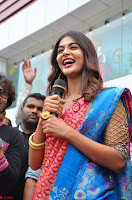 Puja Hegde looks stunning in Red saree at launch of Anutex shopping mall ~ Celebrities Galleries 125.JPG