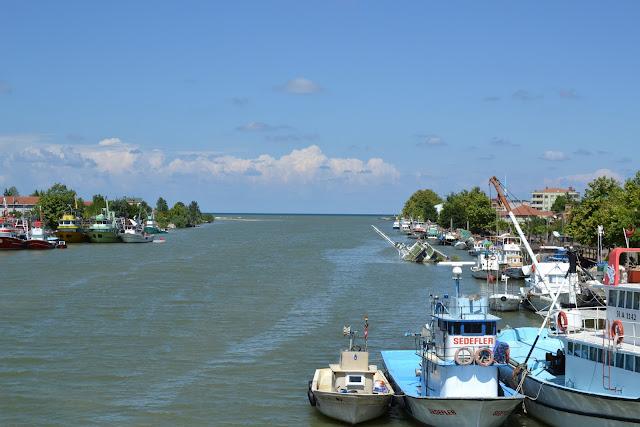 Sakarya Nehri'nin Karadeniz'e dökülüşü.