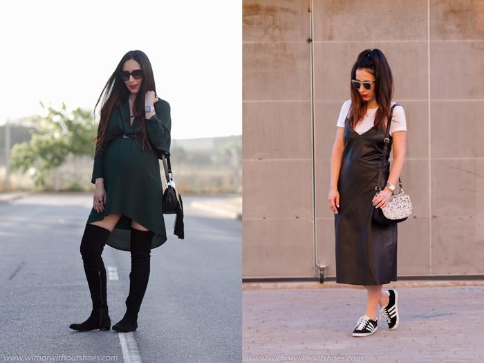 Resumen de los mejores looks embarazada post parto streetstyle verano primavera de la blogger influencer de moda de Valencia