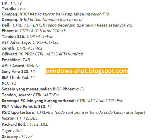 Cara Booting Bios Lewat Flashdisk