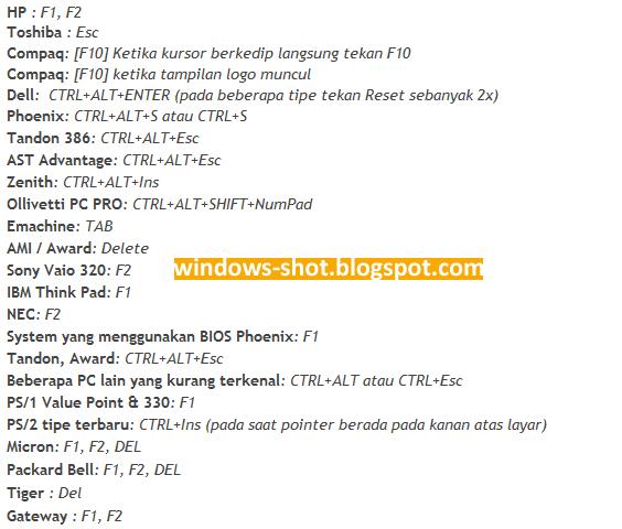 Cara Booting Bios Lewat Flashdisk