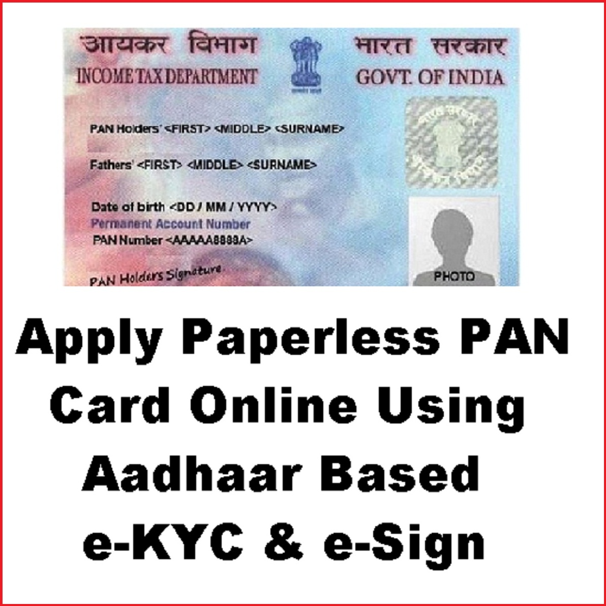 How To Sign Pan Card Physically