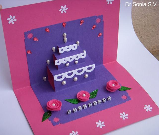 How To Make Cake Pop Up Card