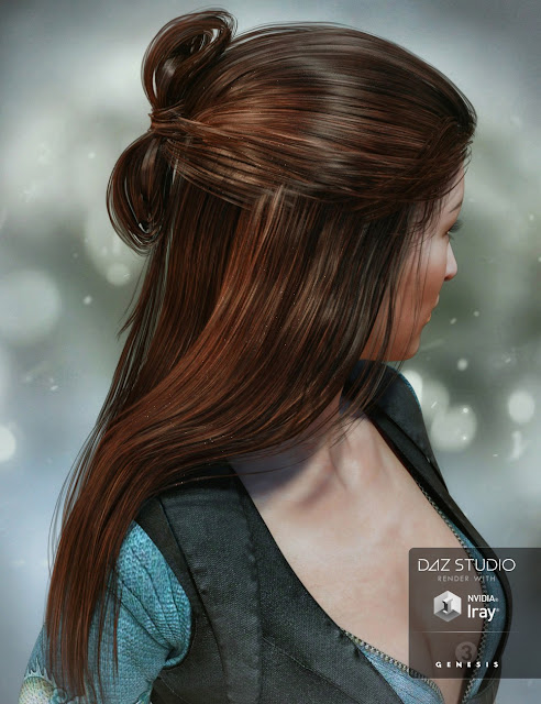 Ohara Hair for Genesis 3 Female