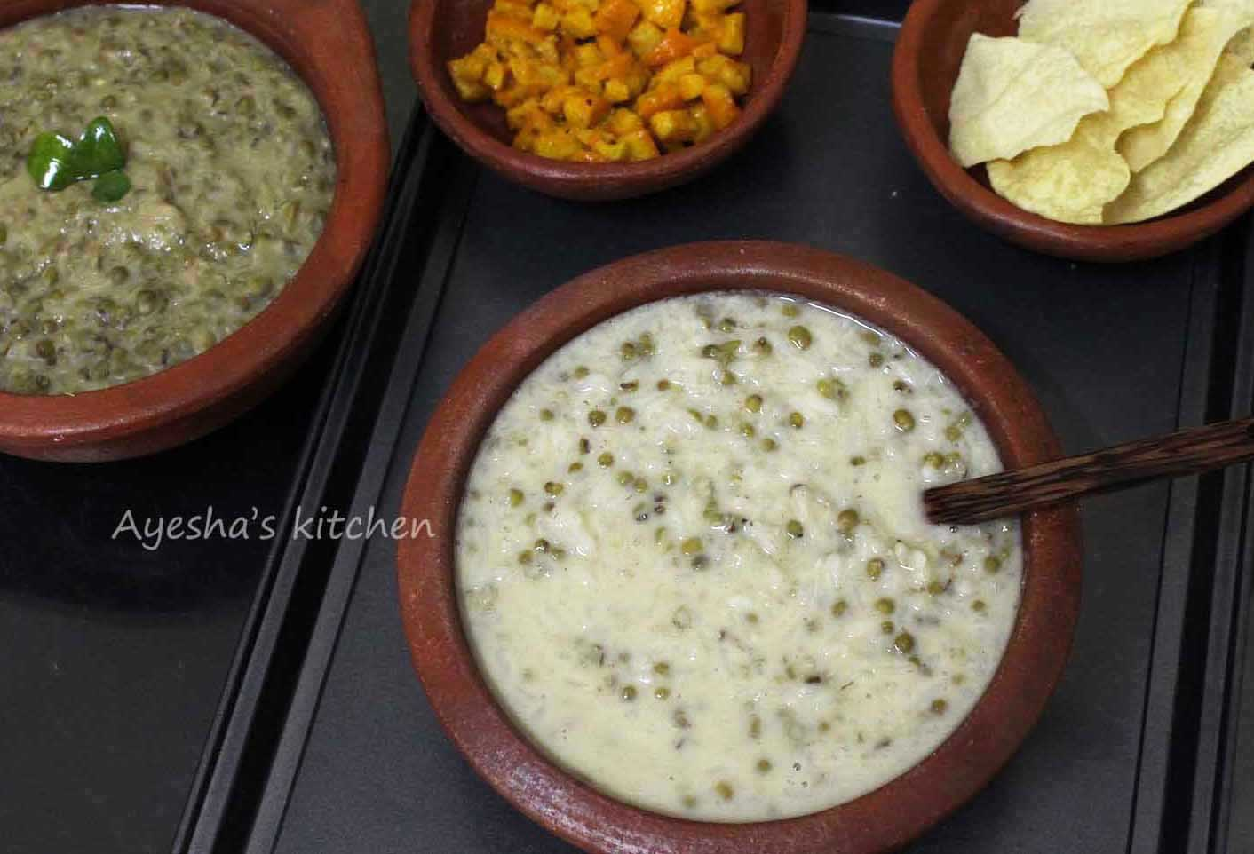 Gruel Recipes Green Gram Gruel Recipe Payar Paal Kanji