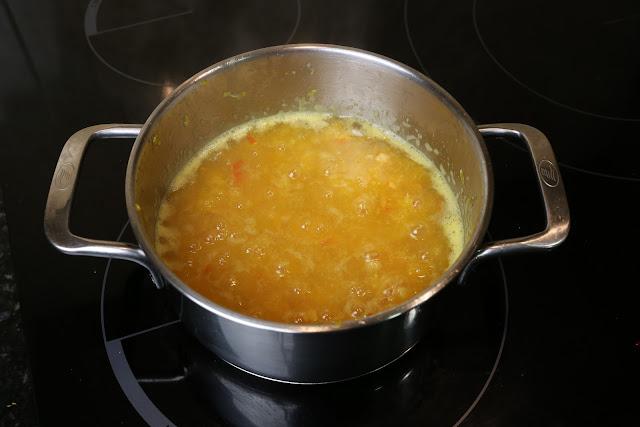 Preparación de mermelada de mandarinas