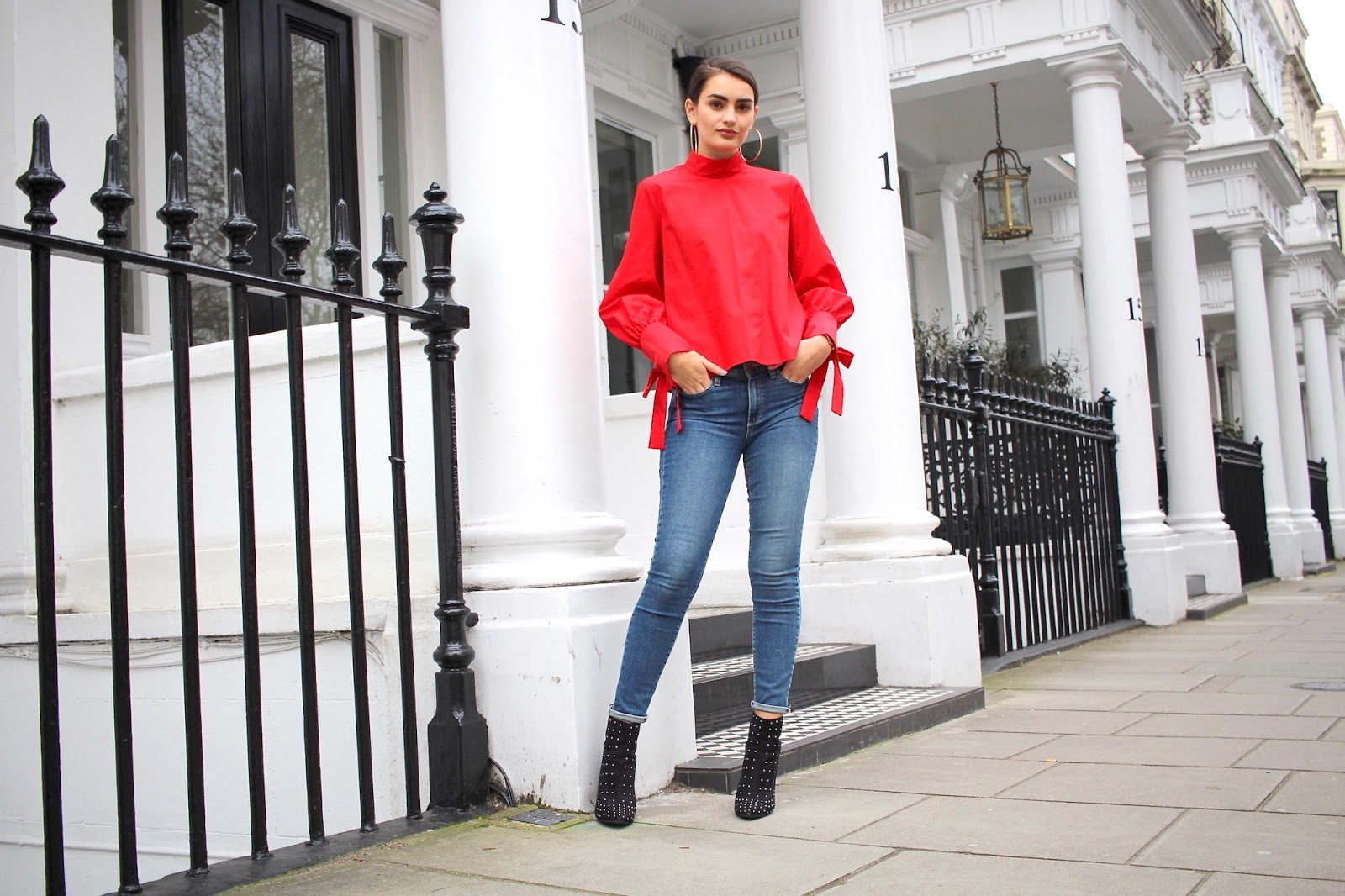 peexo personal style blogger topshop red top