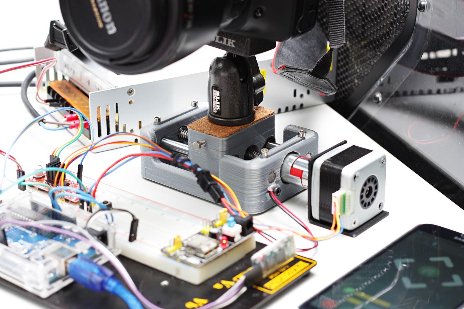 Maker arduino motion control camera slider andriod