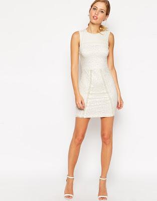 vestidos de noche cortos con transparencias