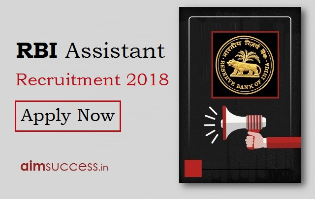 RBI Assistant Recruitment 2018 - Apply Now