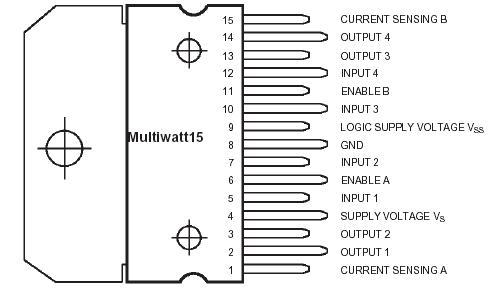 L298 Pin Diagram